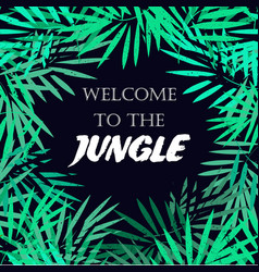 tropical leaves frame jungle border vector image