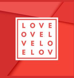 valentine s day romantic creative minimal vector image