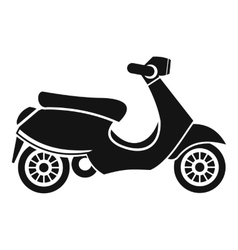 Vespa scooter icon simple style vector