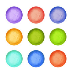 watercolor paint circles vector image