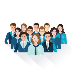 business people isolated on white background vector image vector image