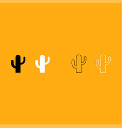 cactus it is white icon vector image vector image