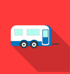 caravan icon of for web and vector image vector image