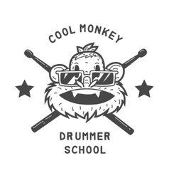 Drummer monkey face vector