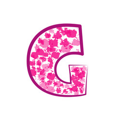 english pink letter g on a white background vector image