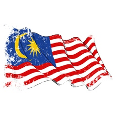 Malaysia Flag Grunge vector image vector image