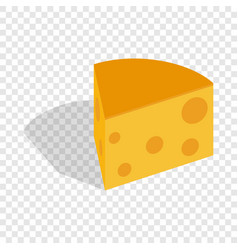 piece of cheese isometric icon vector image