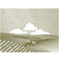 rural farm scene vector image