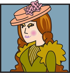 Victorian woman vector image