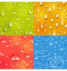 Water drop square banner set vector