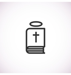 Bible icon with halo vector