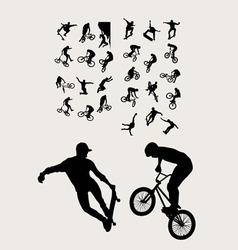 Bike and Extreme Sport vector image