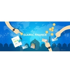 islamic finance economy islam banking money vector image