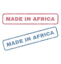 made in africa textile stamps vector image
