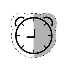 school clock thin line vector image