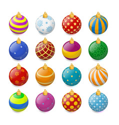 set of isometric color christmas balls on a vector image vector image