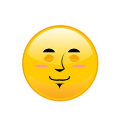 sleeping emoji isolated asleep yellow circle vector image