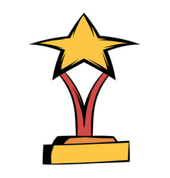 star award icon cartoon vector image vector image