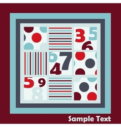 Card with numbers vector image vector image