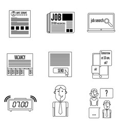 set icons search vector image vector image