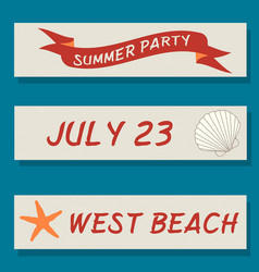 set of flyer templates with sea theme vector image