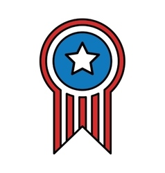 united states of america medal vector image