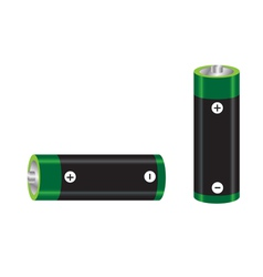 green and black battery vector image
