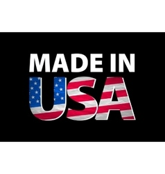 Made in the USA logo vector image
