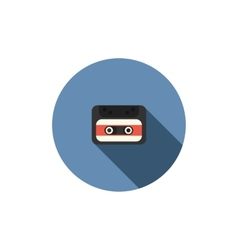 old audio cassette tape icon vector image vector image
