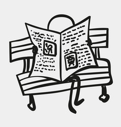 stick men or figures read newspaper vector image