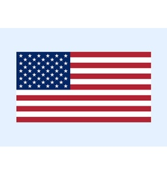 usa flag color clean vector image vector image