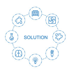 8 solution icons vector image