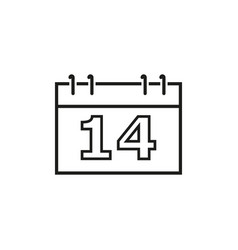 A calendar of the valentine day icons vector