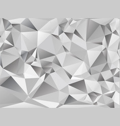Abstract gray background triangular vector