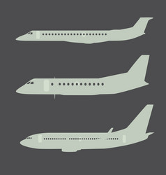 Aircraft silhouettes side view part 2 vector