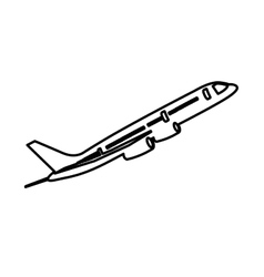 airplane isolated pictogram image vector image