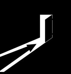 Arrow showing direction vector