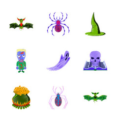 assembly flat shading style icon halloween vector image