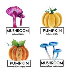 Autumn logo collection vector