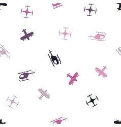 Aviation Seamless Flat Pattern vector image