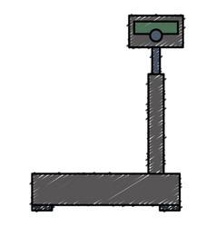 Balance scale warehouse icon vector