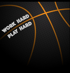 basketball text background vector image