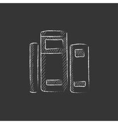 Books Drawn in chalk icon vector