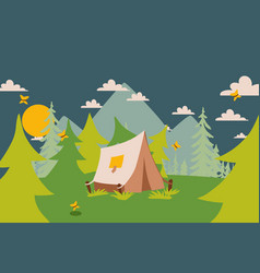 camping tent in nature vector image