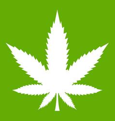 cannabis leaf icon green vector image