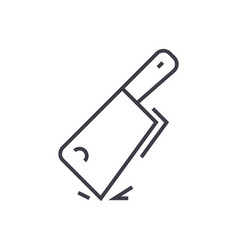 Cleaver line icon sign on vector