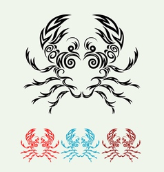 Crab ornate vector image