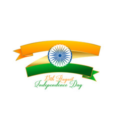 Creative indian flag design made with ribbon vector