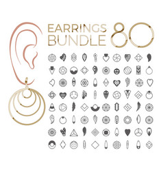 Designs earring vector