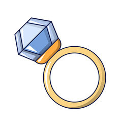 diamond ring icon cartoon style vector image